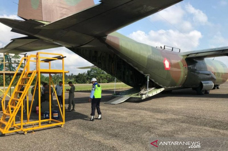 Pesawat Hercules TNI AU mendarat darurat di Aceh Utara