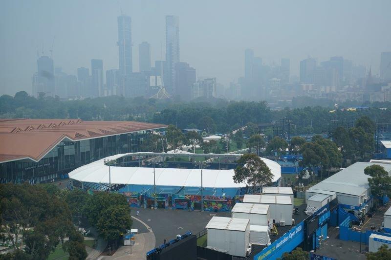 Kualitas udara memburuk, kualifikasi Australia Open terganggu kembali