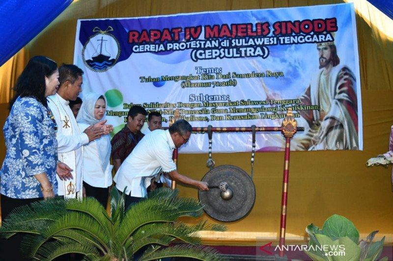 Hadiri raker Sinode Gepsultra, Bupati sebut Koltim miniatur Indonesia