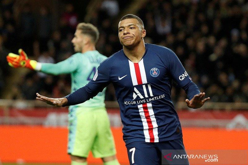 Mbappe jebol gawang Monaco dua kali, PSG menang 4-1