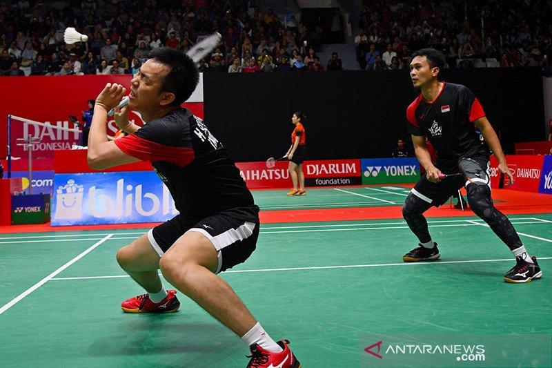 Ahsan/Hendra melaju ke perempat final setelah kandaskan Lu/Yang