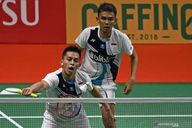 Fajar/Rian tantang seniornya Ahsan/Hendra di Indonesia Masters