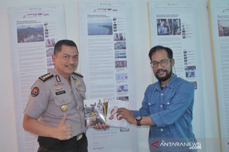 Pejabat Polda NTB silaturahmi ke LKBN ANTARA Biro NTB