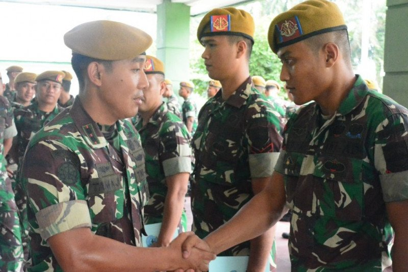 Prajurit Batalyon Arhanud 11/WBW diberangkatkan ke Kodam XVII/Cendrawasih
