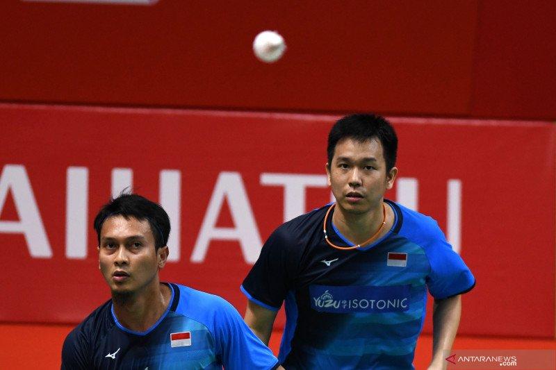 Kalahkan juniornya, Ahsan/Hendra melaju ke final Indonesia Masters 2020