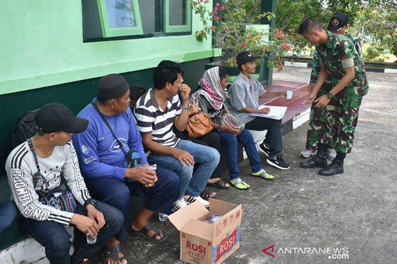 Kodim 0911/Nunukan gagalkan 13 pekerja migran ilegal ke Malaysia