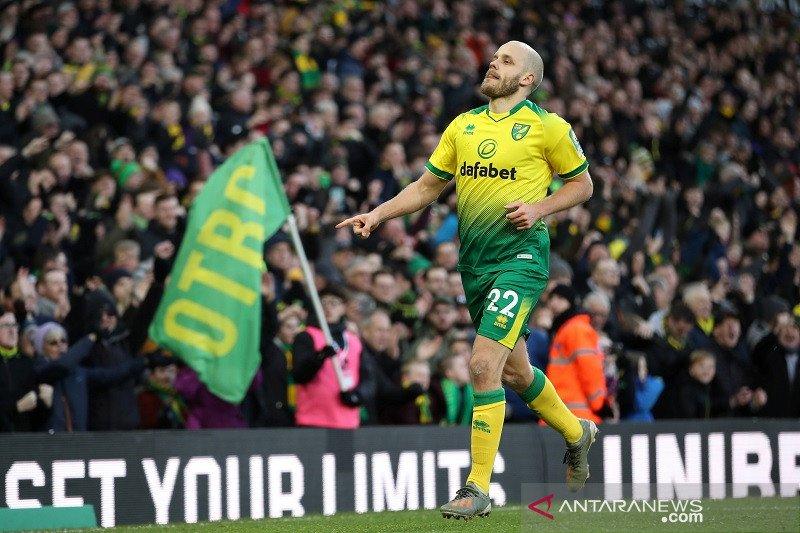 Ringkasan Liga Inggris: Norwich akhirnya menang setelah jalani sembilan laga