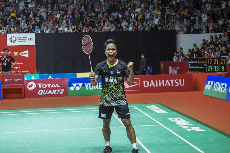 Anthony sumbang angka pertama bagi Indonesia di Badminton Asia Team Championships 2020