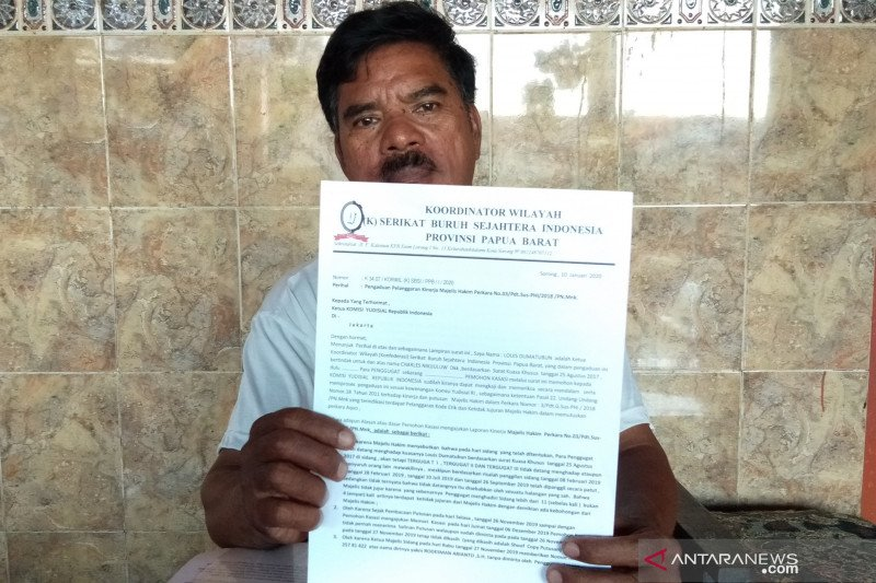 Serikat buruh laporkan hakim Pengadilan Manokwari ke Komisi Yudisial