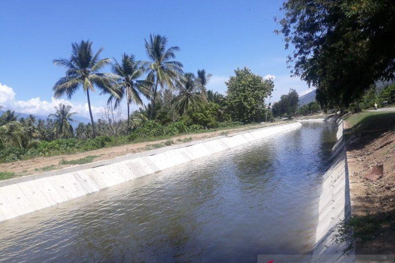 Saluran irigasi di Sigi segera aliri lahan pertanian