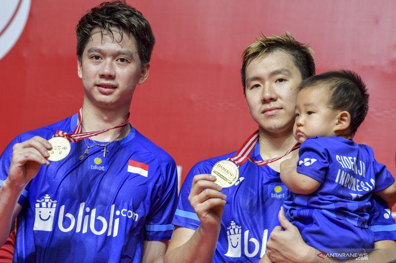 Indonesia raih tiga gelar juara Indonesia Masters 2020