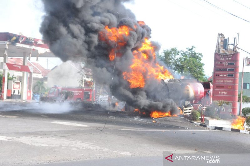 PT Pertamina investigasi kebakaran truk tangki BBM di SPBU Kota Banjar