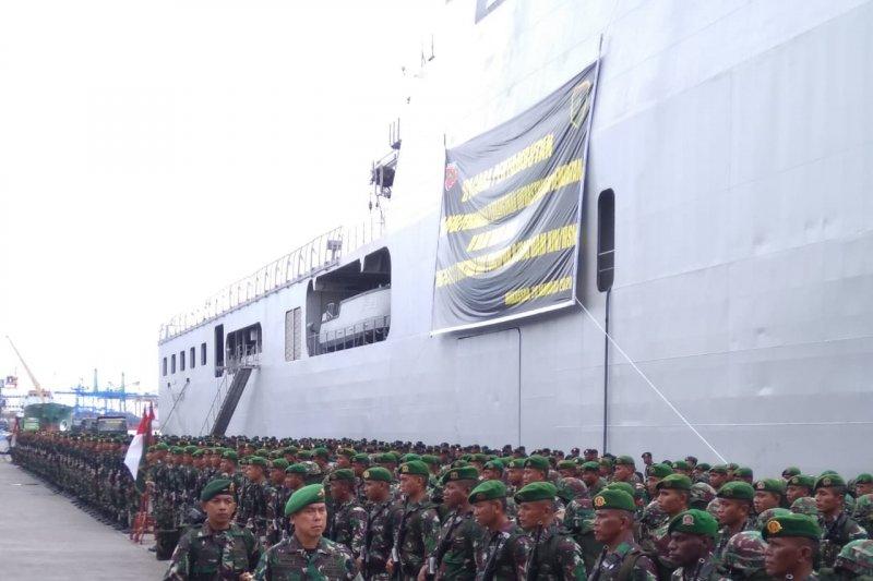 Pangdam XIV/Hasanuddin terima 600 personel pascabangun jembatan di Papua