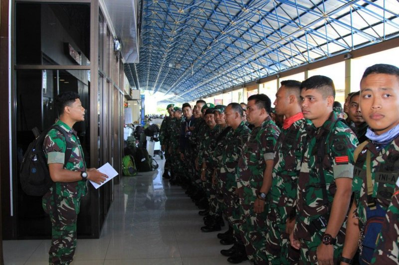 85 prajurit TNI dari Kodam Jaya tiba di Papua