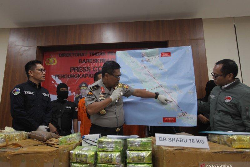 Police thwart 70 kg crystal meth smuggling