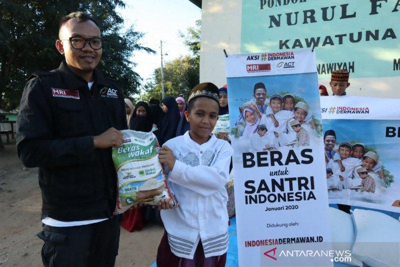 ACT  bantu beras 2 ton untuk pondok pesantren di Sulawesi Tengah