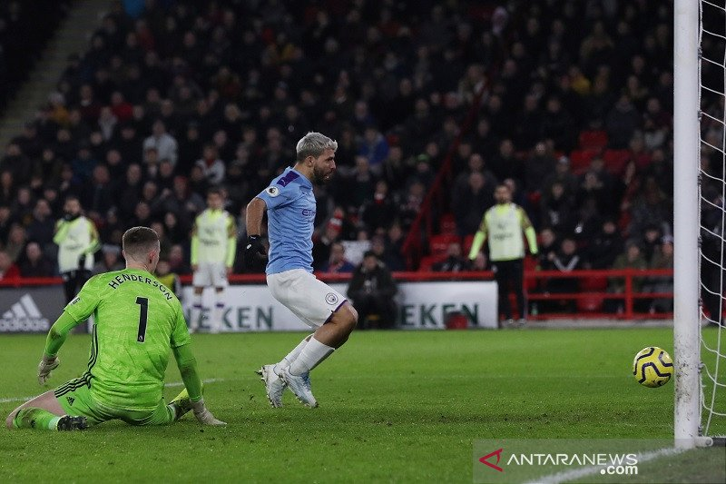 Aguero jadi pembeda ketika Man City atasi Sheffield United 1-0