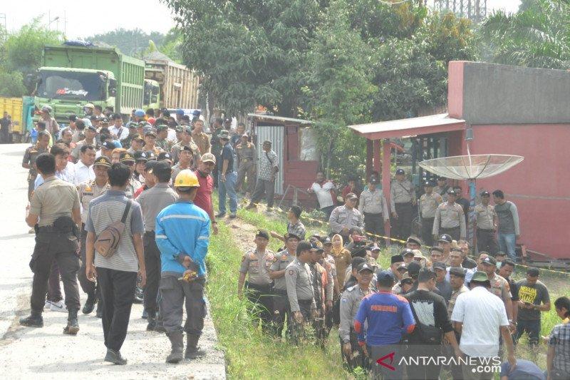 369 polisi amankan eksekusi lahan pembangunan Tol Pekanbaru-Dumai di Kandis