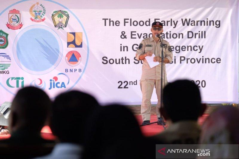 JICA-BNPB gelar pelatihan peringatan dini evakuasi banjir sungai