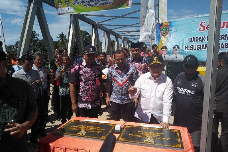 Janji membangun jembatan di DAS Barito sudah direalisasikan, kata Sugianto