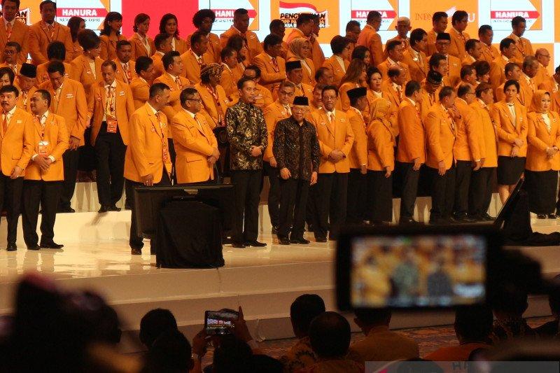 Presiden Jokowi dan Wapres hadiri pengukuhan pengurus DPP Partai Hanura