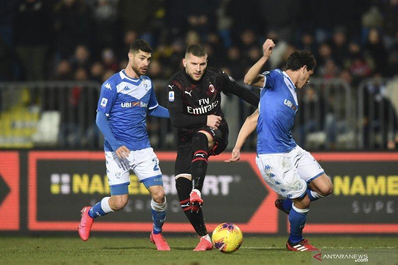 Milan menang tipis saat tundukkan Brescia, naik ke peringkat enam
