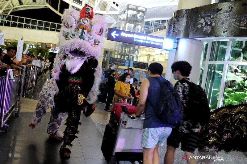 Sambut Imlek, Bandara Ngurah Rai hadirkan atraksi Barongsai
