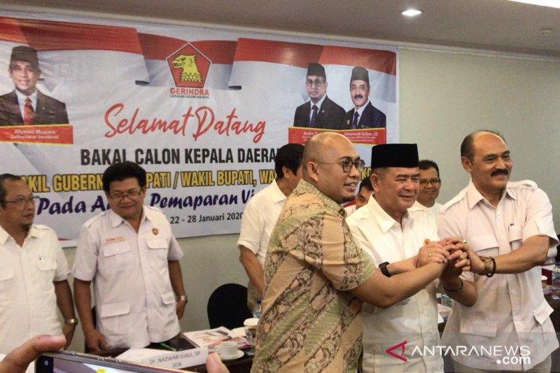 Tujuh bakal calon gubernur paparkan gagasan kepada Gerindra Sumbar, Mulyadi tak datang