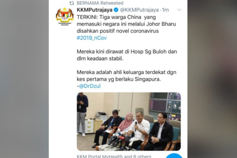 Kaltara harus waspada, di Malaysia empat terinfeksi Virus Corona