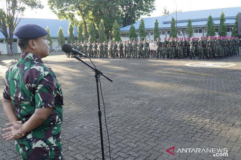 Karumkit Lantamal VI Makassar sosialisasi pencegahan virus corona