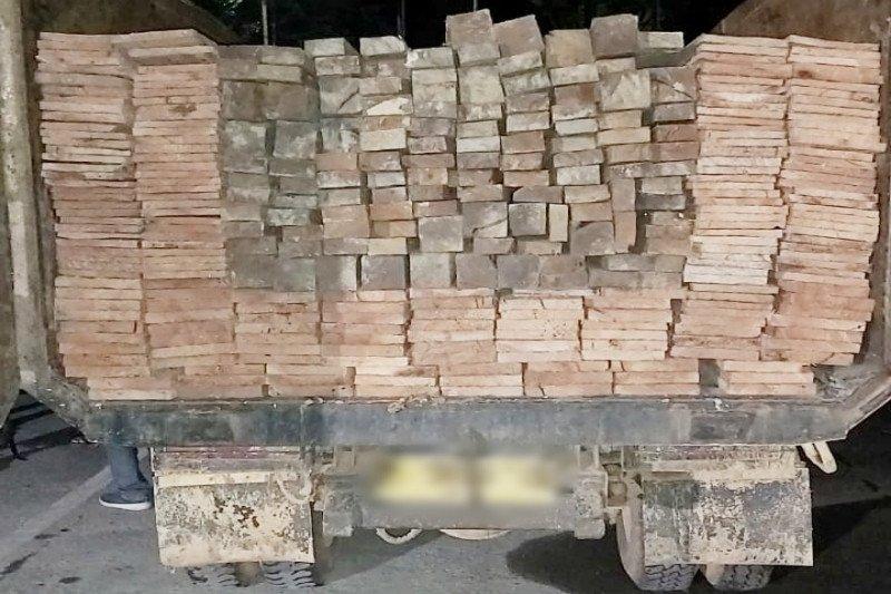 Truk bermuatan ulin dan meranti ilegal ditemukan di kebun sawit