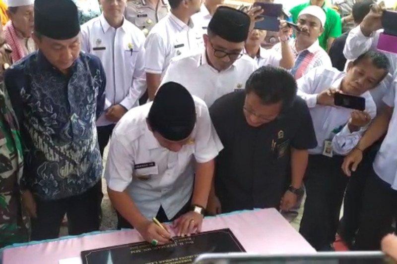 Wali Kota Bandarlampung resmikan Tugu Kerukunan Lintas Agama