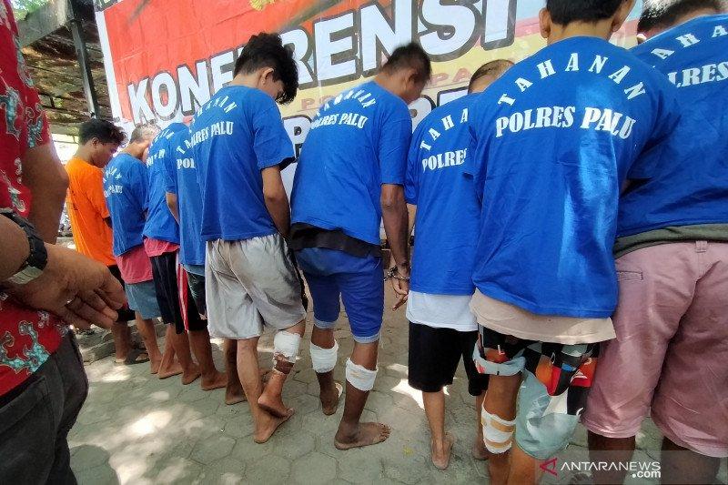 Polres Palu telah menembak 20 terduga pelaku pencurian kendaraan