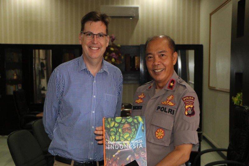 Wakapolda Papua terima kunjungan pejabat Kedubes Australia Dave Peebles