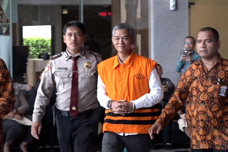 Komisioner KPU Wahyu Setiawan hadiri sidang etik DKPP
