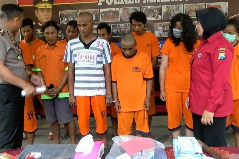 Awal tahun, Polres Malang amankan 23 pelaku kejahatan jalanan