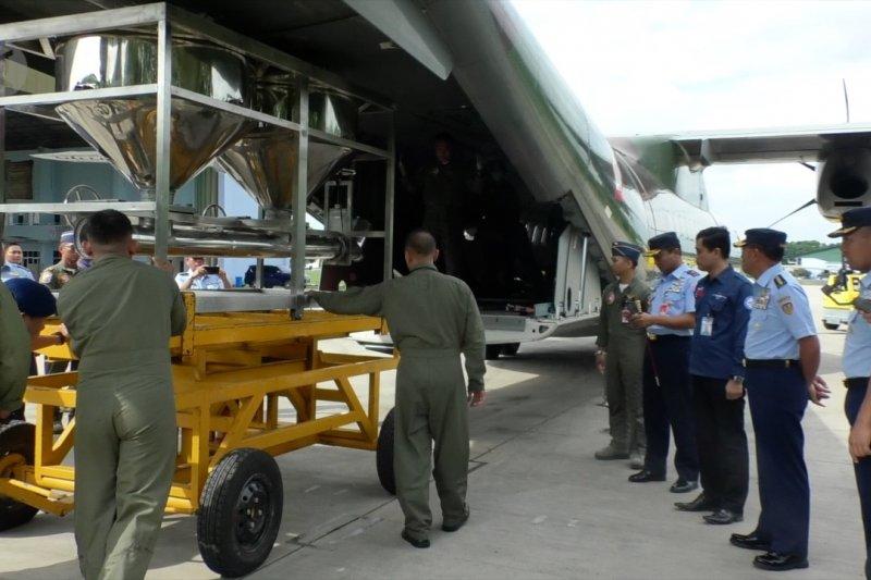 TNI AU kerahkan dua pesawat untuk operasi teknologi modifikasi cuaca