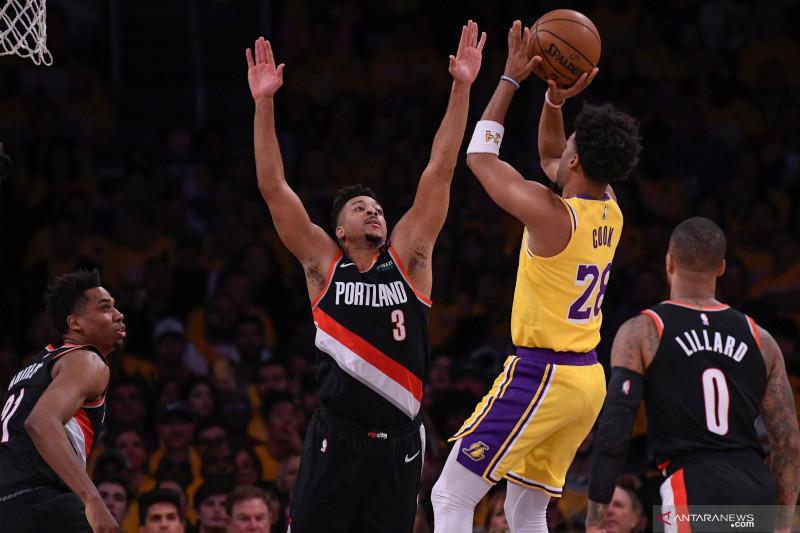 NBA: Portland Trail Blazers kalahkan LA Lakers 127 - 119