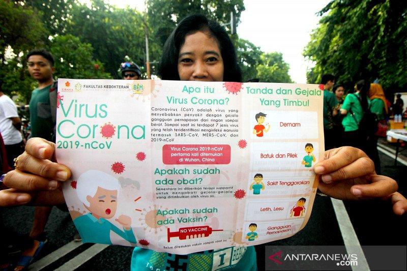 Mahasiswa kedokteran berikan edukasi tentang virus corona
