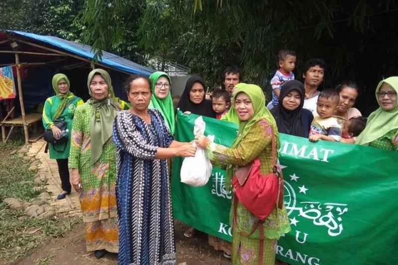 Muslimat NU Banten bantu korban banjir bandang