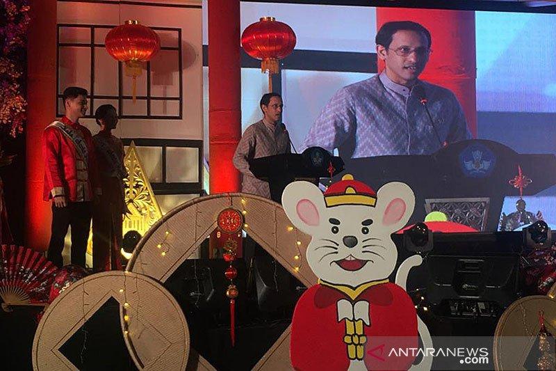 Nadiem cerita pengalaman belajar bahasa mandarin pada perayaan Imlek