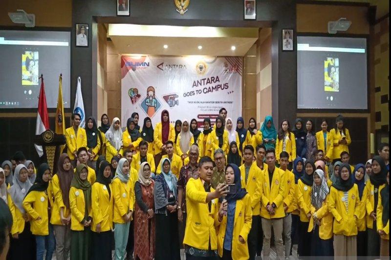 Mahasiswa ULM Banjarmasin nge-vlog bareng ANTARA