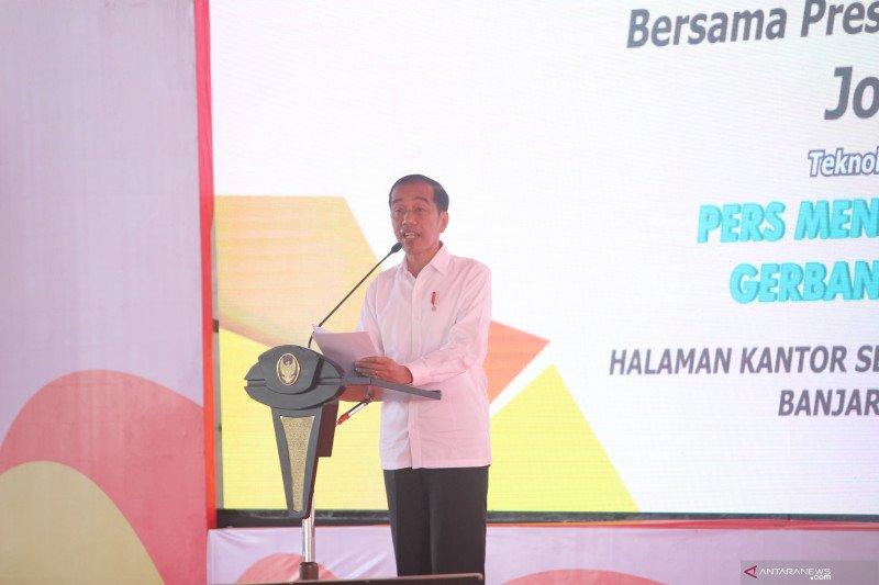 Presiden Jokowi dukung pembuatan regulasi yang lindungi dunia pers nasional