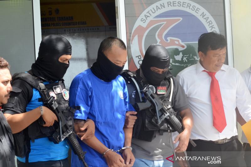Polisi tangkap pembawa 35 gram