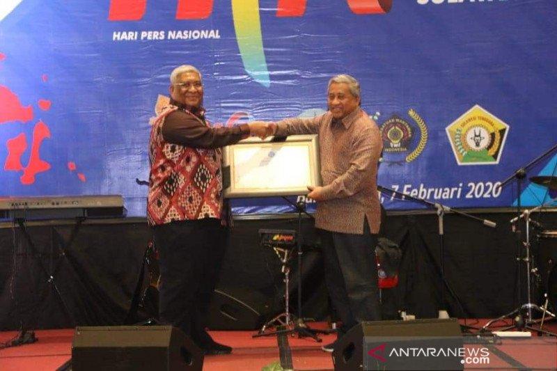 Gubernur Raih Penghargaan Dewan Pers, Sultra Jadi Tuan Rumah HPN 2021
