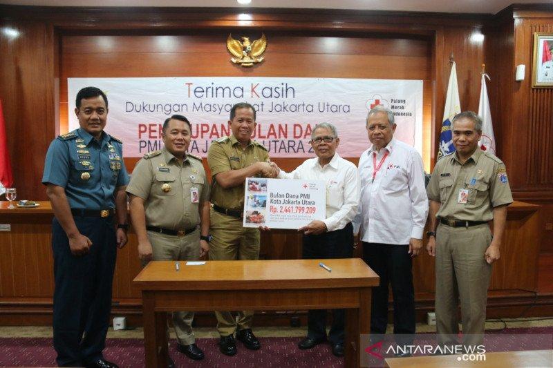 Pemkot Jakarta Utara kumpulkan Rp2,4 miliar di bulan dana PMI