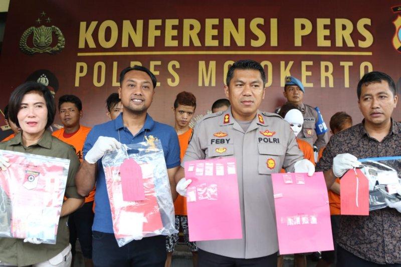 Polisi Mojokerto tangkap 13 pengedar narkoba