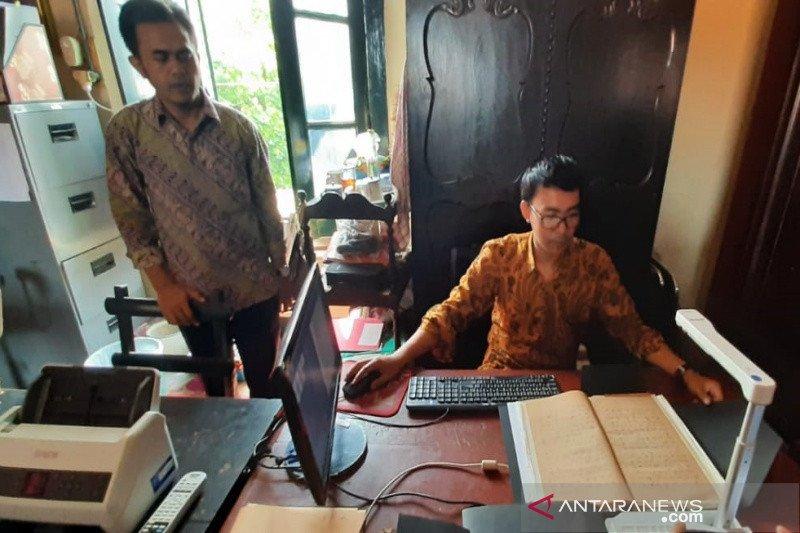 3.132 koleksi naskah kuno Perpustakaan Mangkunegaran didigitalisasi