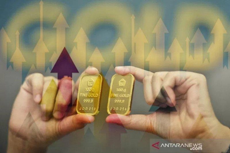 Harga emas naik ke tertinggi sepekan karena wabah corona