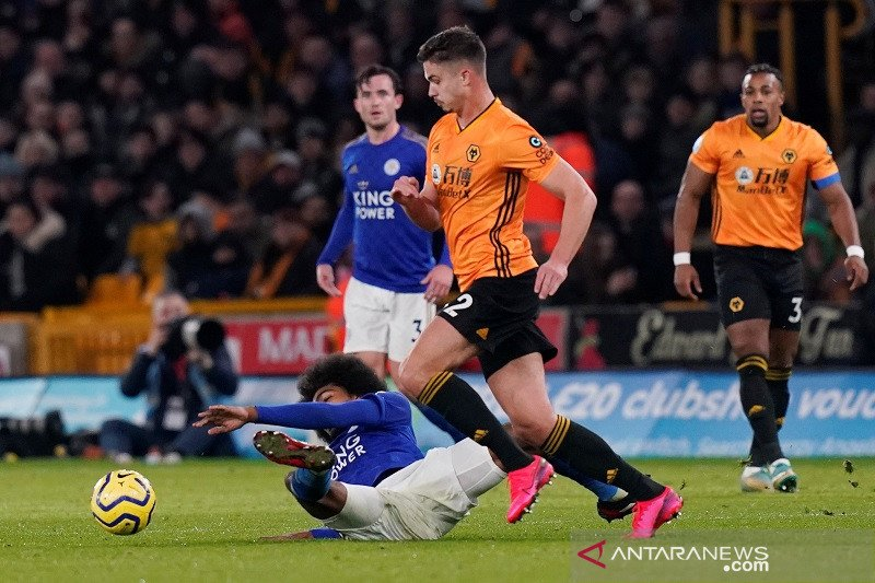 Leicester City main imbang di kandang Wolverhampton
